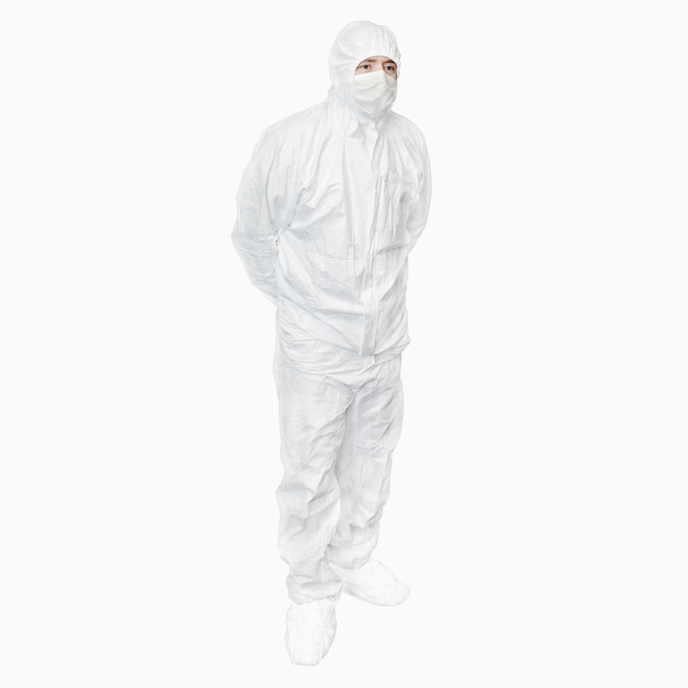 600-5011 INTEGRITY CLEANROOM® DISPOSABLE COVERALL WITH FEET STERILE