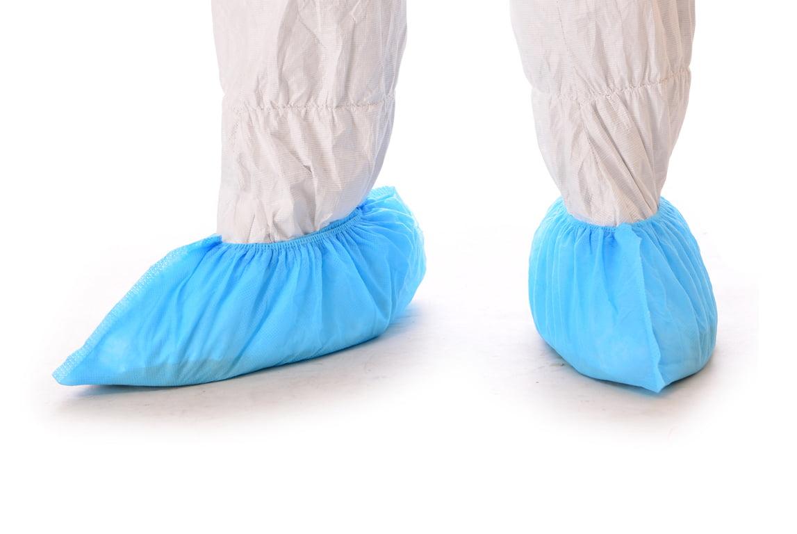 Integrity™ Anti-Skid Shoe Cover, Non-Woven Spunbond Polypropylene, Blue Photo