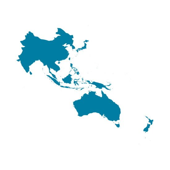 Map of Asia Pacific Region