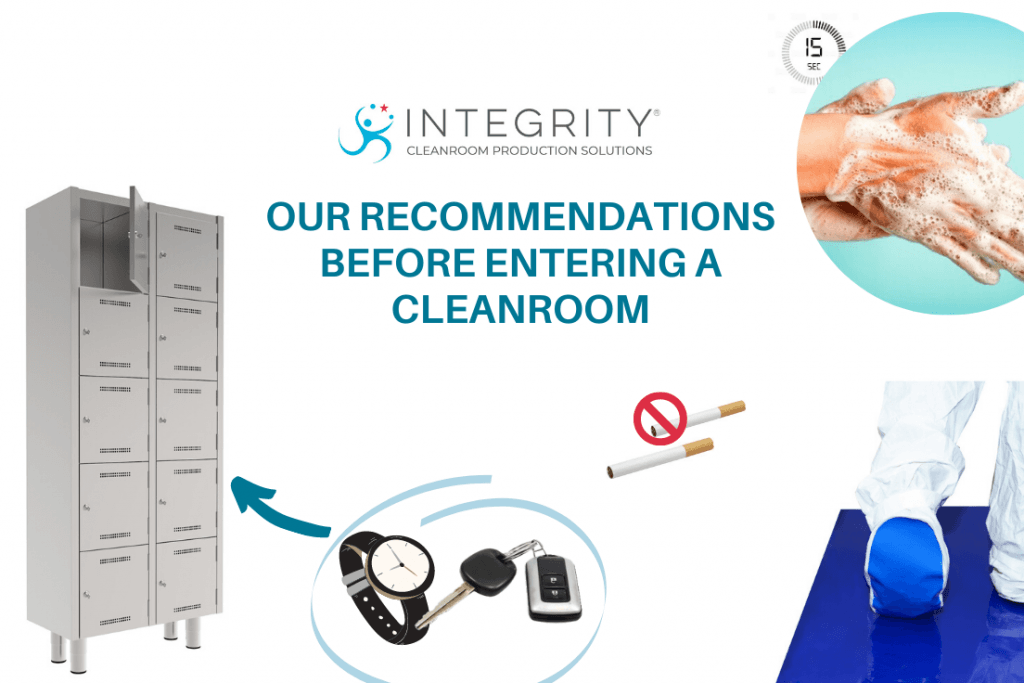 recommendations before entering a cleanroom